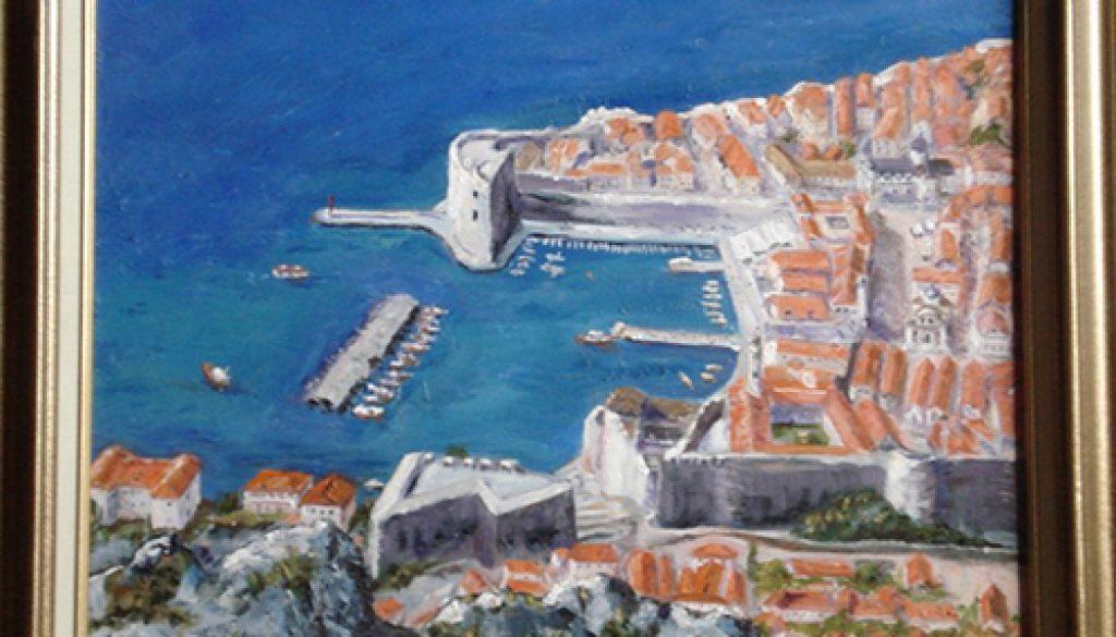 Dubrovnik - Ancient Harbor. Oil 16x20 @2013 Jefferis Peterson