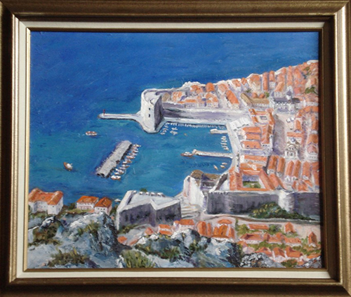 Dubrovnik - Ancient Harbor. Oil 16x20 @2013 Jefferis Peterson