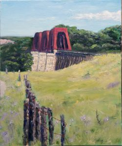 Last Train to Blanco - $450. Oil 16x20