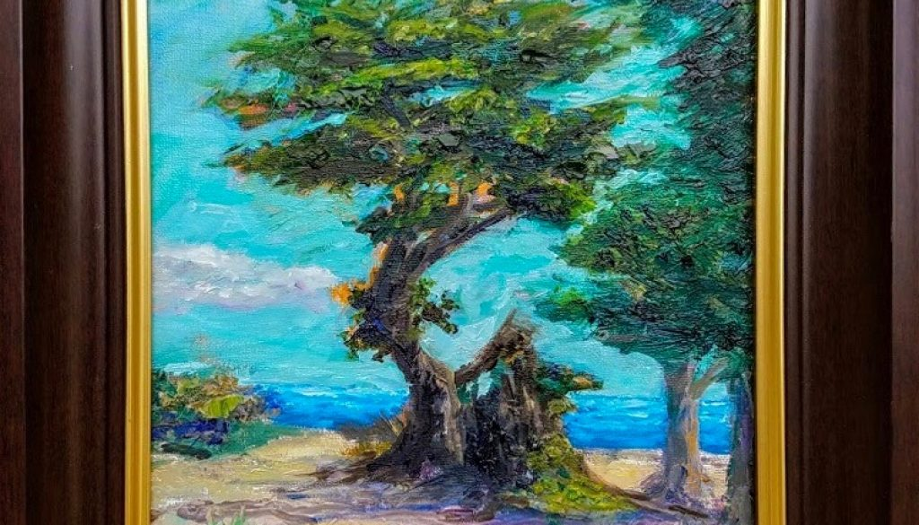 The Tree in Monterey - 11x14, Oil, $325