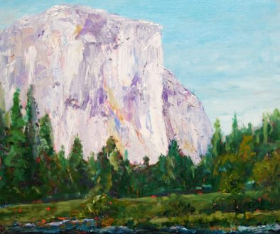 El Capitan from the West Oil on Clayboard $500