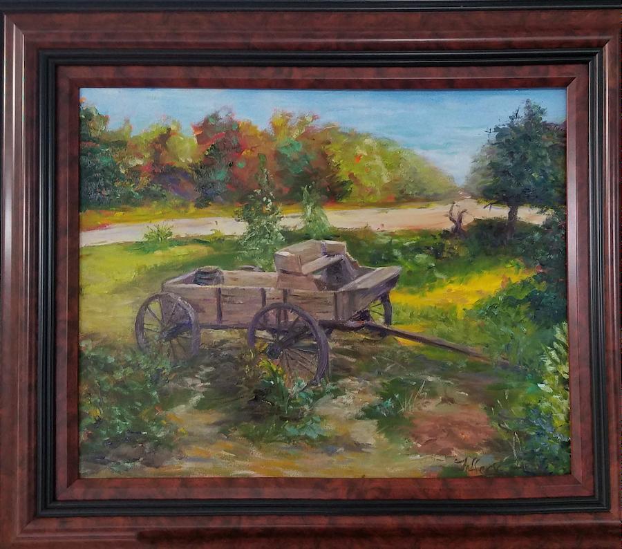 The Forgotten Wagon, Oil, 16x20, $750
