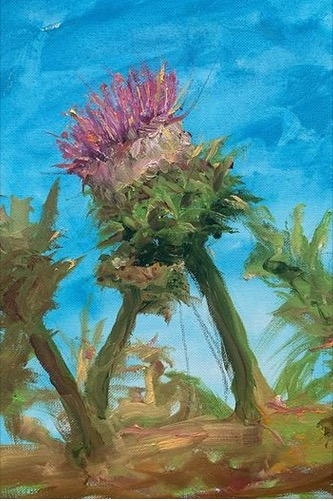 The Cardoon - acrylic 11x14 $150